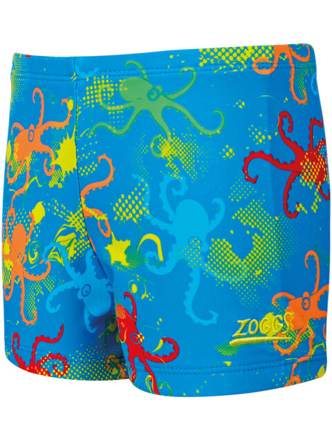 Zoggs Octopus Fever Hip Racer Boys Blue Multi